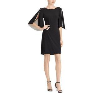 American Living Womens Split-Sleeve Contrast Dress